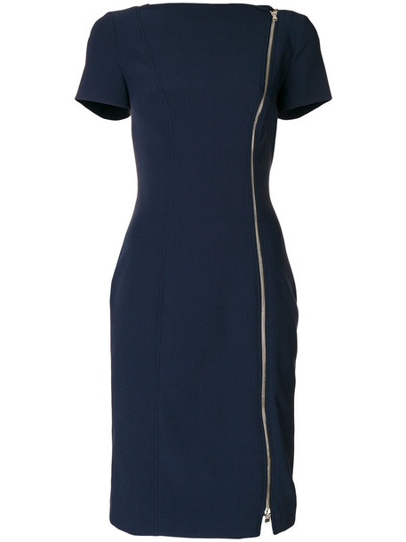 dress women spandex blue wool