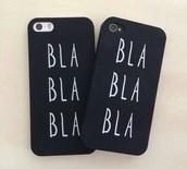 phone cover,iphone,iphone 4/4s,iphone 4 case,iphone 4s,bla bla,black and white