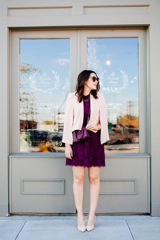 kendi everyday blogger plum lace dress