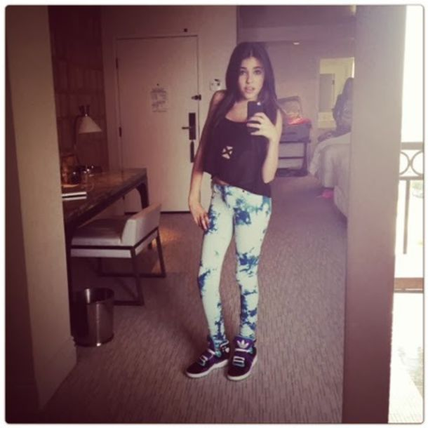 madison beer leggings tie dye t-shirt
