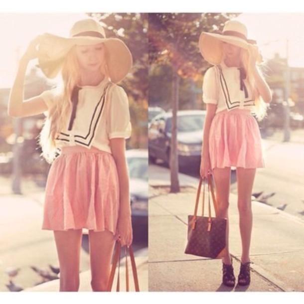 hat bow bucket hat summer hat cute sunhat bowler hat straw hat girly blouse  shirt skirt ac8c07ee1a0e
