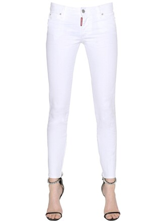 jeans denim cotton white