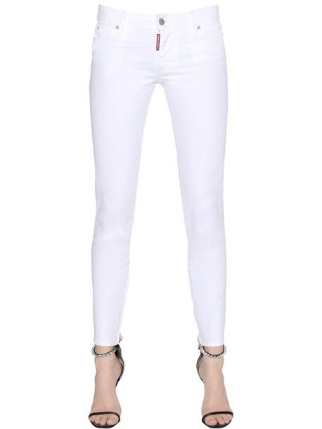 jeans denim cotton white