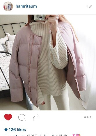 jacket pink cotton candy pink coat puffer jacket cute winter coat pink coat girly puffer coat warm pretty pink puffer jacket puffercoat padded coat pastel cotton candy