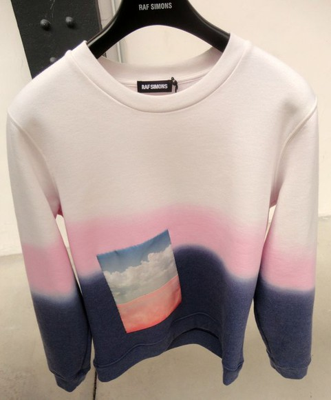 ombre ombre shirt clouds navy fade blend