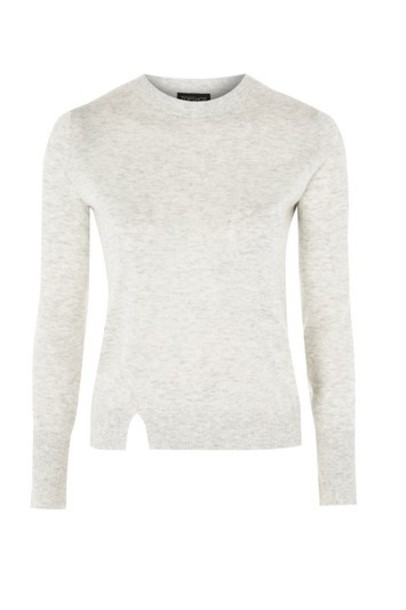 Topshop jumper knit grey sweater