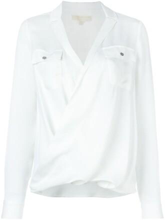 shirt style women white silk top