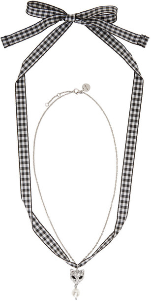Miu Miu pearl necklace silver jewels
