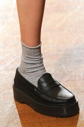 shoes,black,loafers,chunky,indie,flatforms