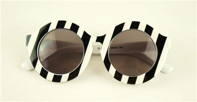 Holland House of Black and White Striped Sunglasses Street Shooting Sunglasses | eBay