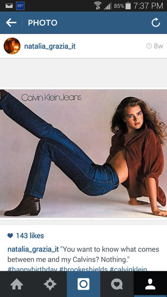 model jeans brooke shields calvin klein