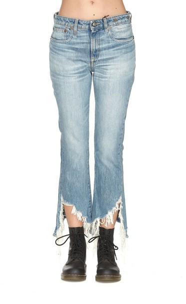 R13 jeans fit blue