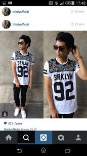 top,noir,blanc,noir et blanc,chapeau noir,lunette de soleil,brkln,style,dress
