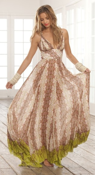 dress summer maxi clothes flowy boho pretty