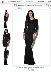dress,black,mermaid,lace,backless,fishtail,prom dress