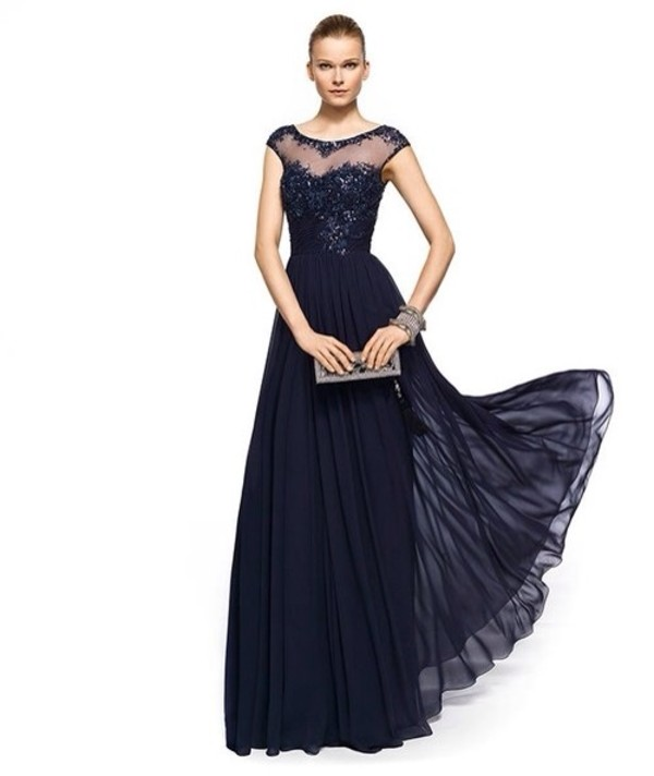 dress prom dress navy formal dress long evening dress evening dress navy blue evening dress long wedding party dress long chiffon evening dresses a line prom gowns