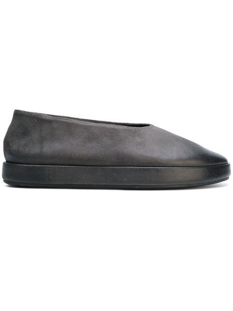 Marsèll platform ballerinas women leather suede grey shoes