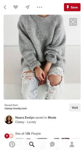 sweater grey grey sweater lovely girly girly wishlist girl