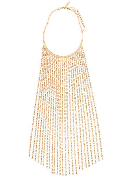 long women necklace yellow orange jewels