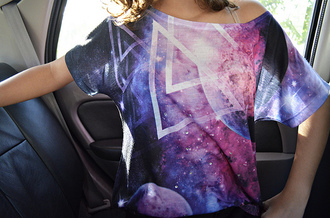 shirt galaxy print triangles triangle