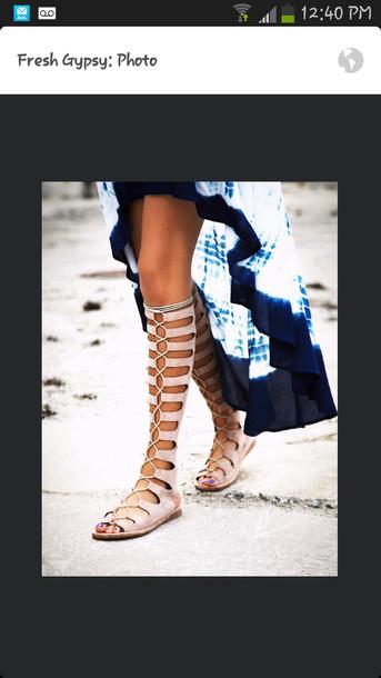 shoes gladiators lace up