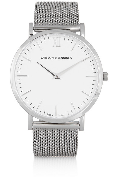 larsson jennings cm silver plated watch net a porter com. Black Bedroom Furniture Sets. Home Design Ideas