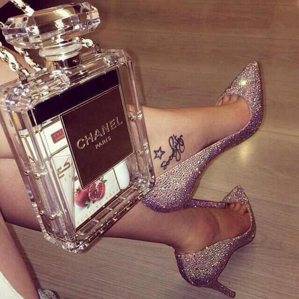 shoes diamond heels