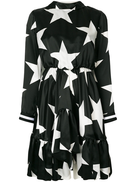 MSGM dress women print black silk