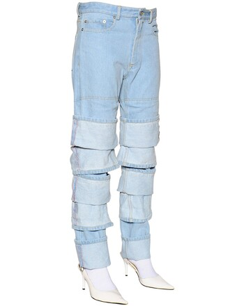 jeans denim layered cotton light blue light blue