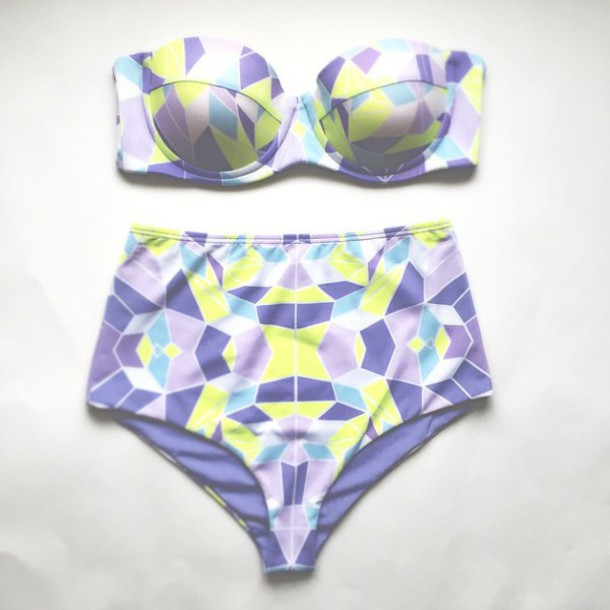 swimwear neon purple purple swimsuit neon swimsuit neon swimwear purple swimwear bikini high waisted bikini graphic print