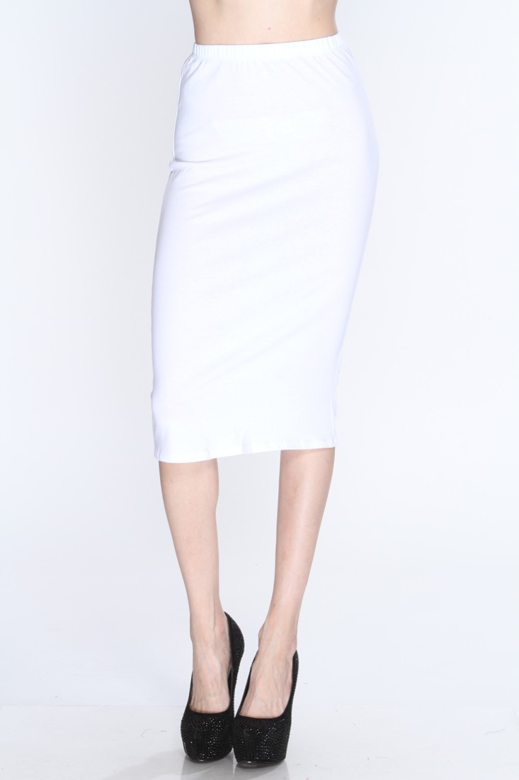 White High Waist Sexy Pencil Skirt