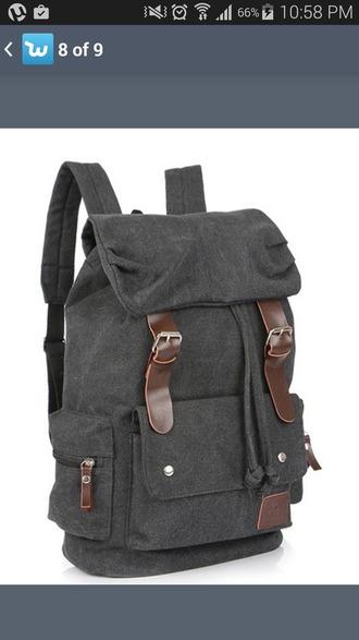 bag canvas canvas backpack backpack