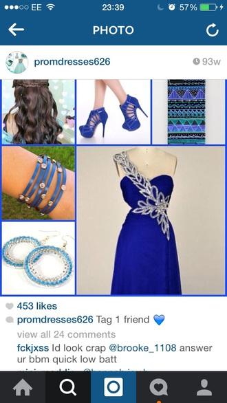 dress prom dress prom gown blue prom dress blue dress