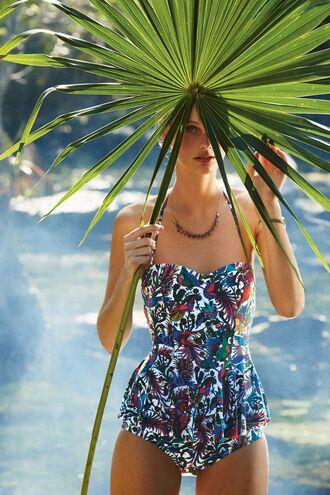 swimwear peplum costume pattern one piece bodysuit pinterest straps