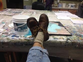 shoes brown leather worn brown leather worn leather docs doc martens vintage boots vintage 90´s brown shoes dreadlocks