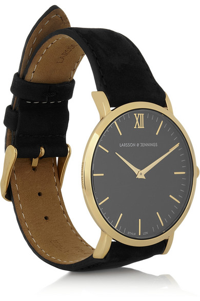 Larsson & Jennings | Läder gold-plated watch | NET-A-PORTER.COM