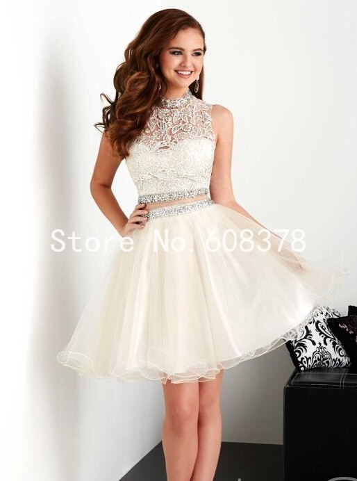 8th Grade Graduation Dresses 2015 Summer High Neck Two Piece ...