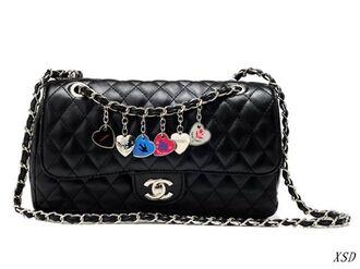 bag black chanel chanel bags shoulder bag style fashion trending bags