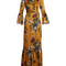 Stephanie floral-print silk gown