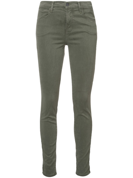 J BRAND jeans women spandex cotton green