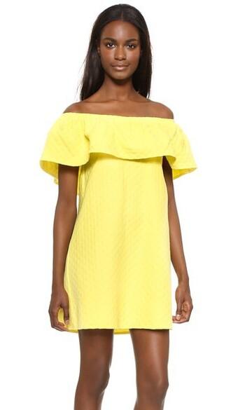 dress ruffle dress ruffle yellow