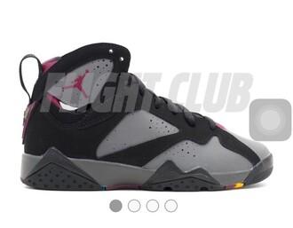 shoes burgundy 7s jordans grey black size5