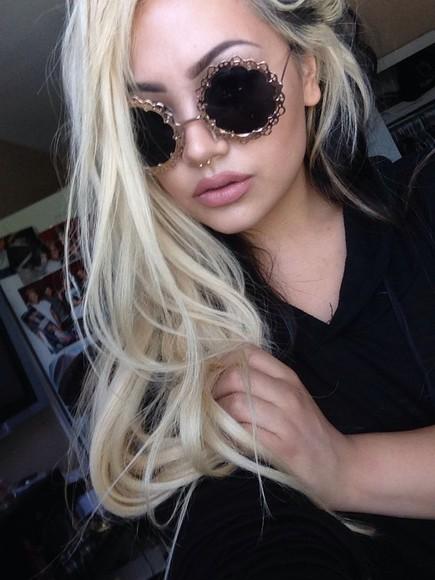 round sunglasses sunglasses hippie john lennon glasses