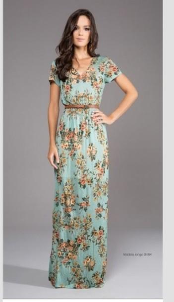 dress clothes floral dress floral floral skater skirt maxi dress style boho chic boho dress