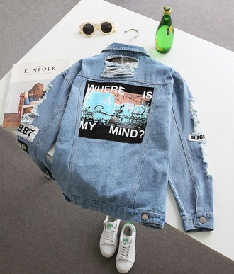 jacket denim jacket grunge tumblr blue