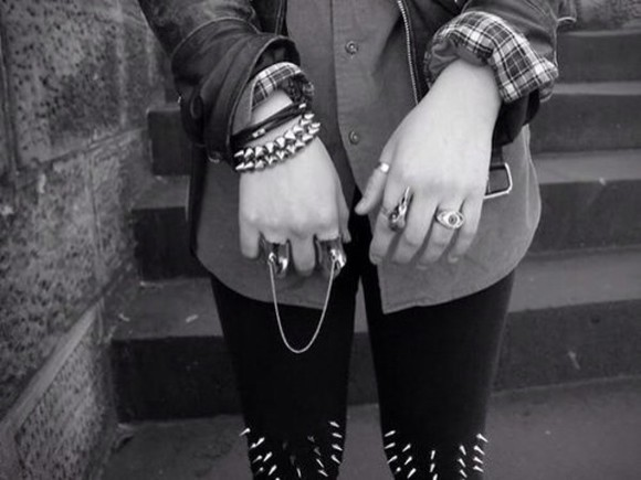 jewels rings ring bracelets rock punk punk rock punk bracelet