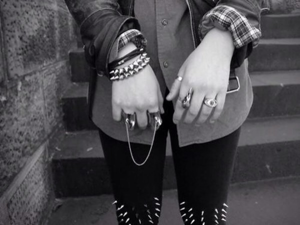 jewels ring rock punk bracelets punk rock punk bracelet ring