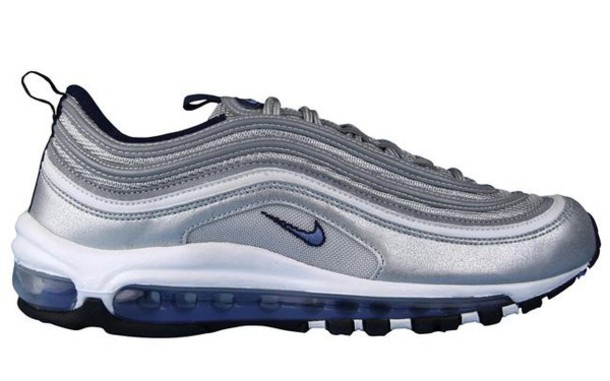 shoes, nike air force, air max, 97, silver, sneakers