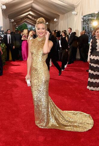 dress gold kate hudson red carpet red carpet dress met gala metgala2015