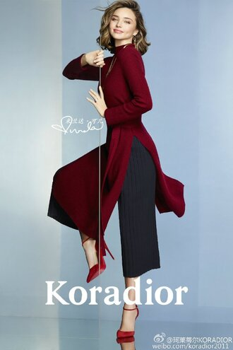 pants pumps editorial tunic tunic dress miranda kerr shoes louboutin